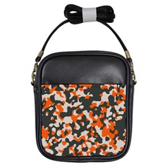Camouflage Texture Patterns Girls Sling Bags