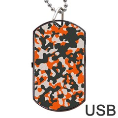 Camouflage Texture Patterns Dog Tag USB Flash (Two Sides)