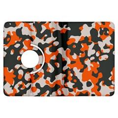 Camouflage Texture Patterns Kindle Fire Hdx Flip 360 Case