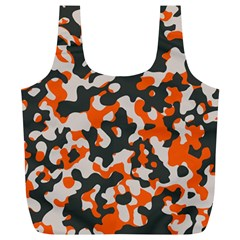 Camouflage Texture Patterns Full Print Recycle Bags (l)