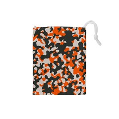 Camouflage Texture Patterns Drawstring Pouches (small)