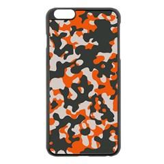 Camouflage Texture Patterns Apple Iphone 6 Plus/6s Plus Black Enamel Case