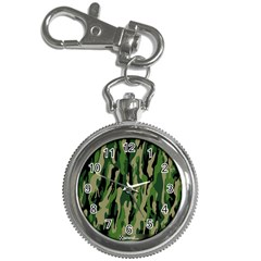 Green Military Vector Pattern Texture Key Chain Watches