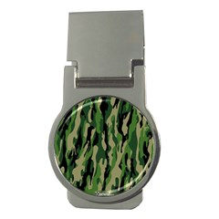 Green Military Vector Pattern Texture Money Clips (Round)