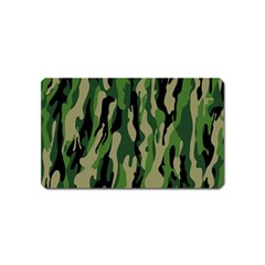 Green Military Vector Pattern Texture Magnet (name Card)