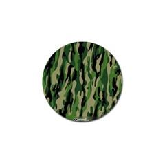 Green Military Vector Pattern Texture Golf Ball Marker