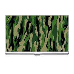 Green Military Vector Pattern Texture Business Card Holders