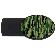 Green Military Vector Pattern Texture USB Flash Drive Oval (1 GB)