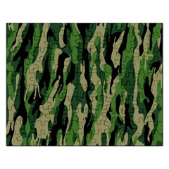Green Military Vector Pattern Texture Rectangular Jigsaw Puzzl
