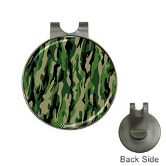Green Military Vector Pattern Texture Hat Clips With Golf Markers