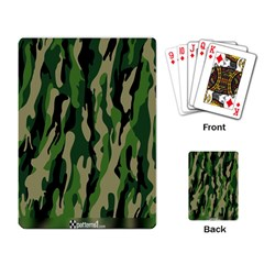 Green Military Vector Pattern Texture Playing Card