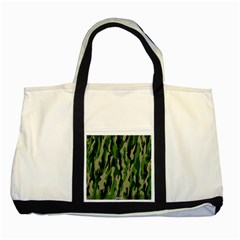 Green Military Vector Pattern Texture Two Tone Tote Bag