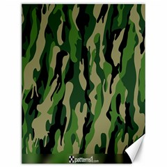 Green Military Vector Pattern Texture Canvas 12  x 16