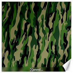 Green Military Vector Pattern Texture Canvas 20  X 20