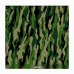 Green Military Vector Pattern Texture Medium Glasses Cloth (2 Side)