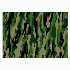 Green Military Vector Pattern Texture Large Glasses Cloth