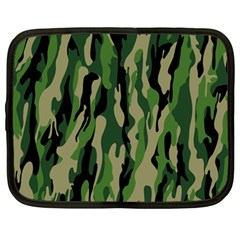 Green Military Vector Pattern Texture Netbook Case (Large)