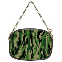 Green Military Vector Pattern Texture Chain Purses (one Side)
