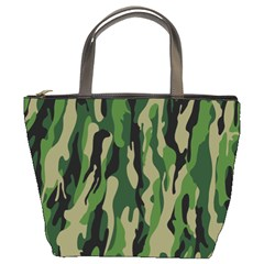 Green Military Vector Pattern Texture Bucket Bags