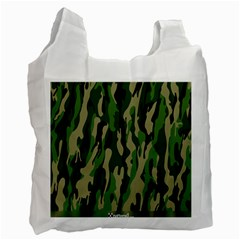 Green Military Vector Pattern Texture Recycle Bag (One Side)