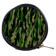 Green Military Vector Pattern Texture Mini Makeup Bags