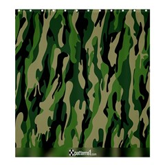 Green Military Vector Pattern Texture Shower Curtain 66  x 72  (Large)