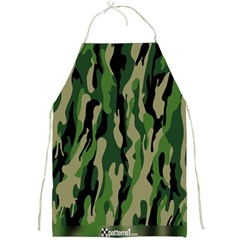 Green Military Vector Pattern Texture Full Print Aprons