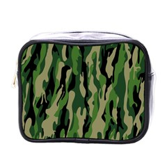 Green Military Vector Pattern Texture Mini Toiletries Bags