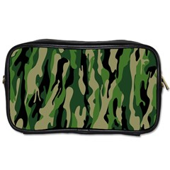 Green Military Vector Pattern Texture Toiletries Bags 2 Side