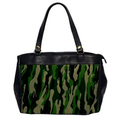 Green Military Vector Pattern Texture Office Handbags