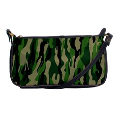 Green Military Vector Pattern Texture Shoulder Clutch Bags