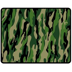 Green Military Vector Pattern Texture Fleece Blanket (medium)
