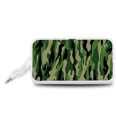 Green Military Vector Pattern Texture Portable Speaker (White)
