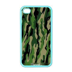 Green Military Vector Pattern Texture Apple Iphone 4 Case (color)
