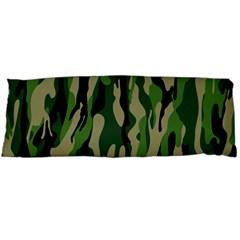 Green Military Vector Pattern Texture Body Pillow Case (dakimakura)