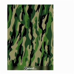 Green Military Vector Pattern Texture Small Garden Flag (two Sides)
