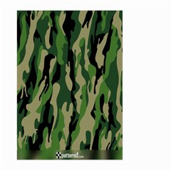 Green Military Vector Pattern Texture Large Garden Flag (Two Sides)