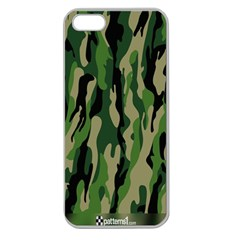 Green Military Vector Pattern Texture Apple Seamless Iphone 5 Case (clear)