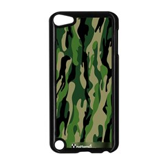 Green Military Vector Pattern Texture Apple iPod Touch 5 Case (Black)