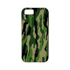 Green Military Vector Pattern Texture Apple iPhone 5 Classic Hardshell Case (PC+Silicone)