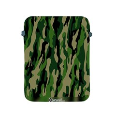 Green Military Vector Pattern Texture Apple Ipad 2/3/4 Protective Soft Cases