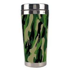 Green Military Vector Pattern Texture Stainless Steel Travel Tumblers