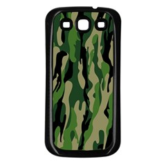 Green Military Vector Pattern Texture Samsung Galaxy S3 Back Case (black)