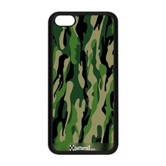 Green Military Vector Pattern Texture Apple iPhone 5C Seamless Case (Black)