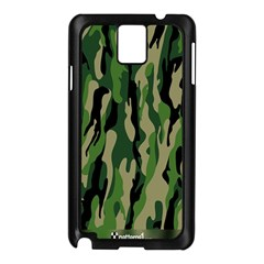 Green Military Vector Pattern Texture Samsung Galaxy Note 3 N9005 Case (black)