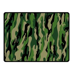 Green Military Vector Pattern Texture Double Sided Fleece Blanket (Small)
