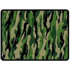Green Military Vector Pattern Texture Double Sided Fleece Blanket (large)