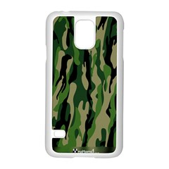 Green Military Vector Pattern Texture Samsung Galaxy S5 Case (white)