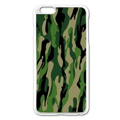 Green Military Vector Pattern Texture Apple Iphone 6 Plus/6s Plus Enamel White Case