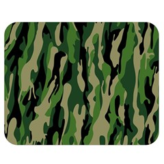 Green Military Vector Pattern Texture Double Sided Flano Blanket (medium)